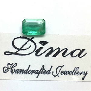 One Stone Emerald 0.80ct in Total