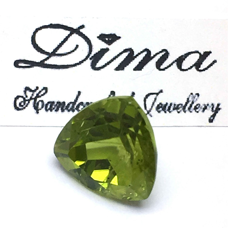 One Stone Peridot 7.60ct in Total