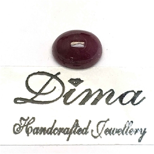 One Stone Ruby Cabochon 3.45ct in Total