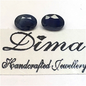 Two Stones Blue Sapphire 2.01ct in Total
