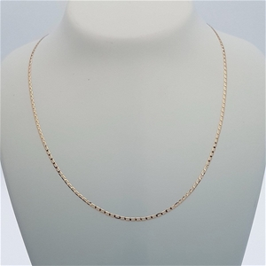 9ct Rose Gold, 1.30g Italian Solid Chain