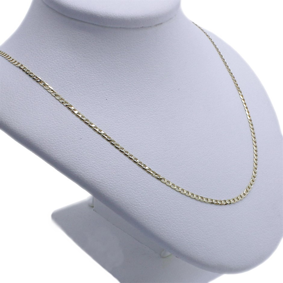9ct Yellow Gold, 1.80g Italian Solid Chain Necklace
