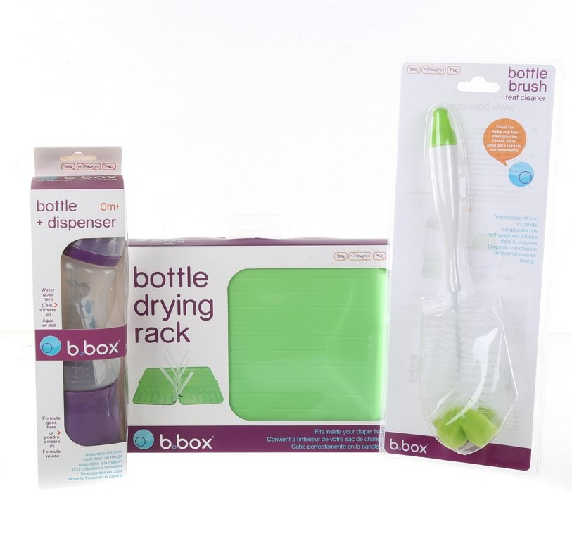 B-BOX Bottle Dispenser-Bottle Brush & Bottle Drying Rack Green/Purple. Buye