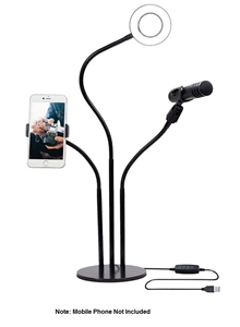Mobile Live Stream - Ring Light Stand wi