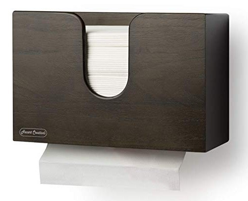 6 x Paper Towel Dispensers - Wall Mount or Countertop, Made of Wood