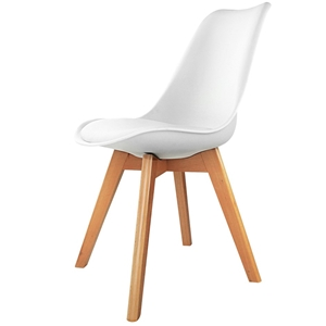 Artiss Set of 4 Padded Dining Chair - Wh