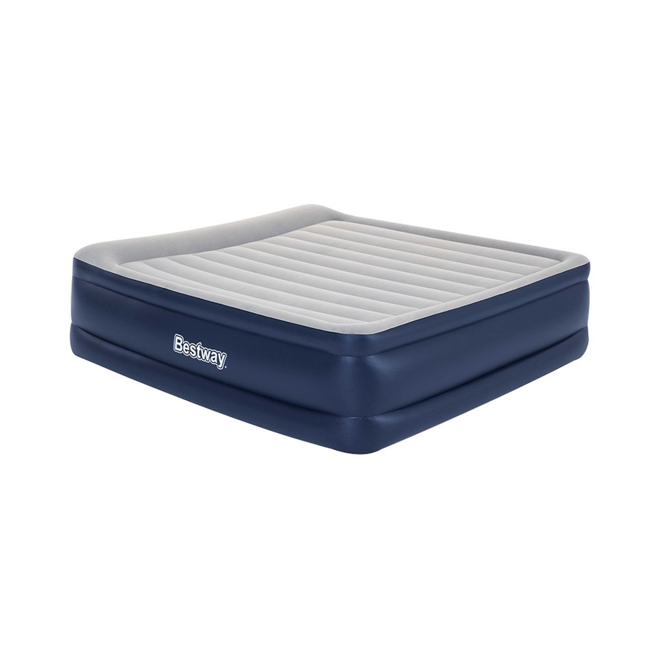 Bestway King Air Bed Inflatable Mattress Sleeping Mat Battery Built-in Pump