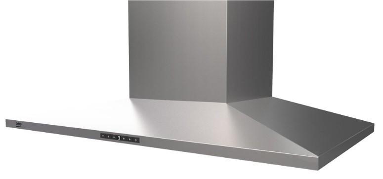 Beko BRH90CX 90cm Stainless Steel Slim Pyramid Rangehood