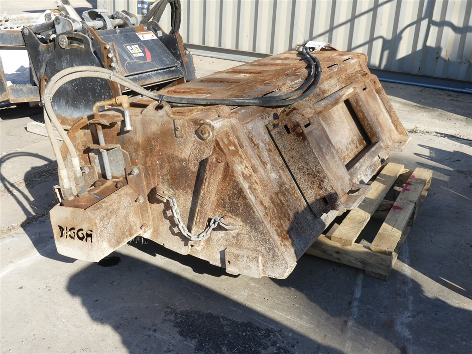 Digga Skid Steer Road Broom Attachment