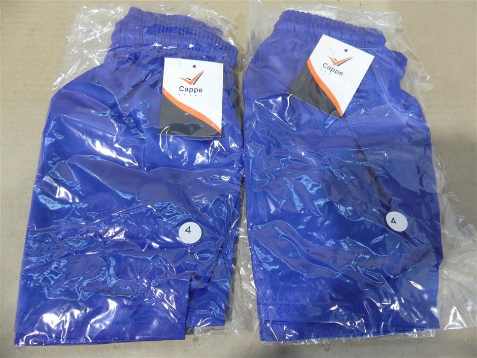 10 x Cappe Sports Shorts, Colour Royal Blue, Size 4