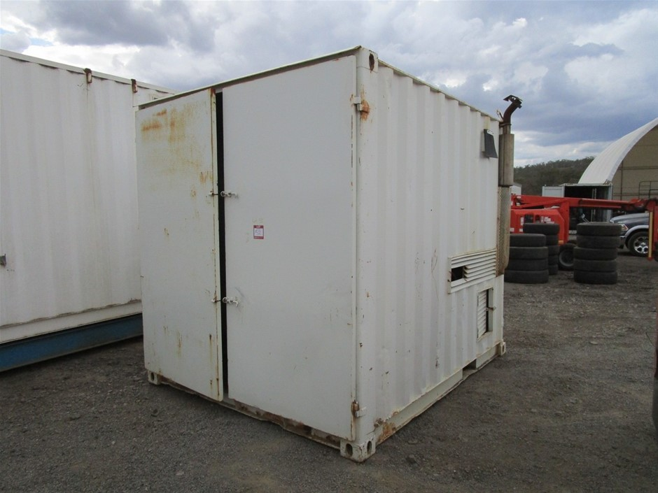Generator and 10ft Container