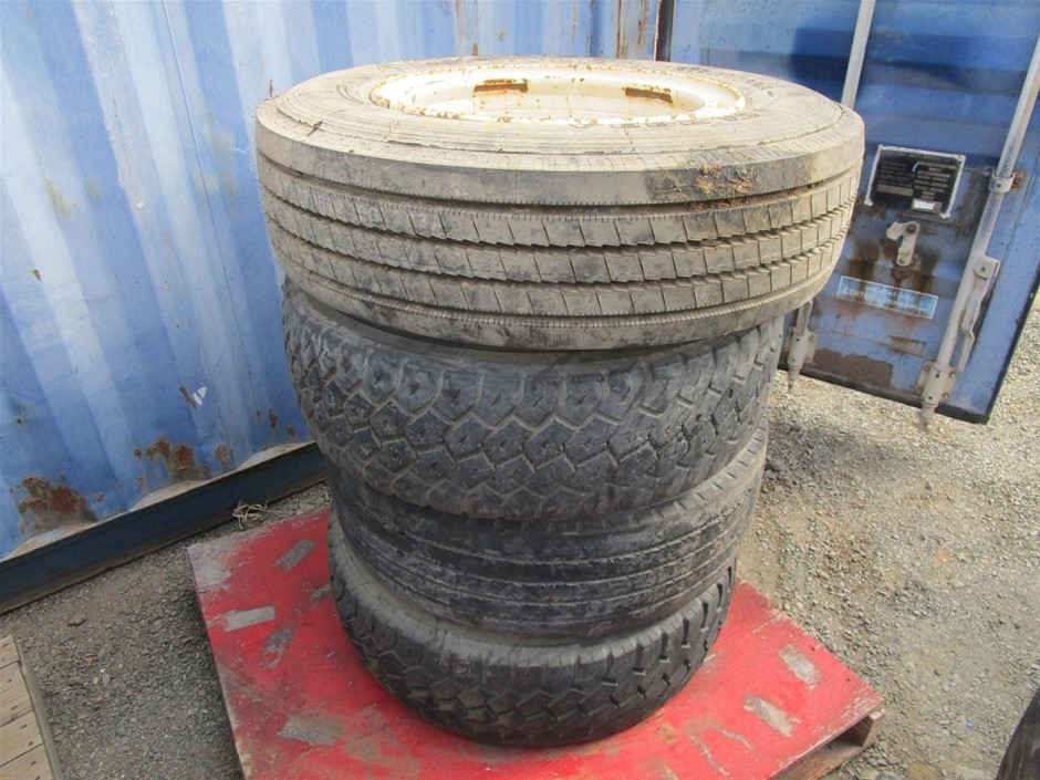 Qty 4 x Truck Wheels