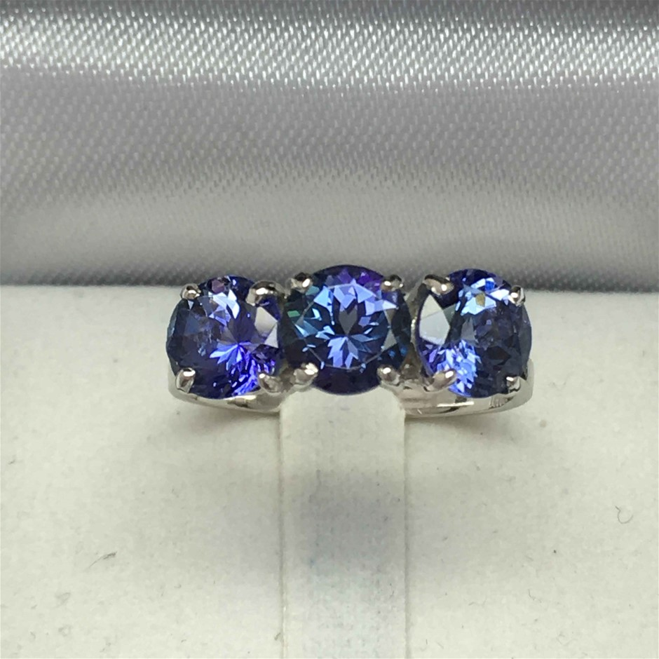 18ct White Gold, 2.96ct Tanzanite Ring