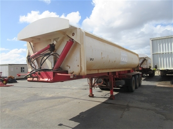 2014 Action Trailers Triaxle Side Tipper