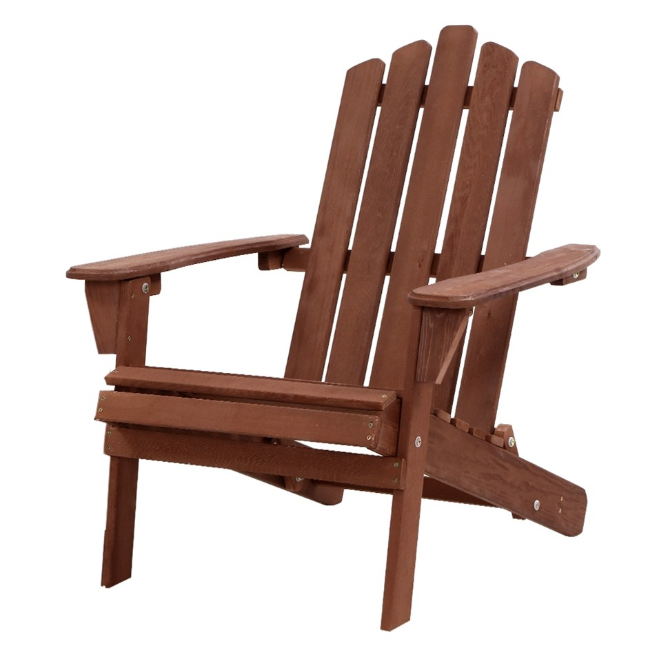 Gardeon Outdoor Furniture Beach Chair Wooden Adirondack Patio Lounge Garden