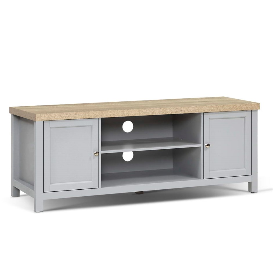 Artiss TV Cabinet Stand Unit French Provincial Storage Shelf Grey Oak