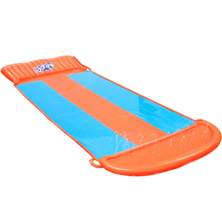 Bestway Triple Water Slip, Slide Kids Inflatable Splash Toy Outdoor 5.49M