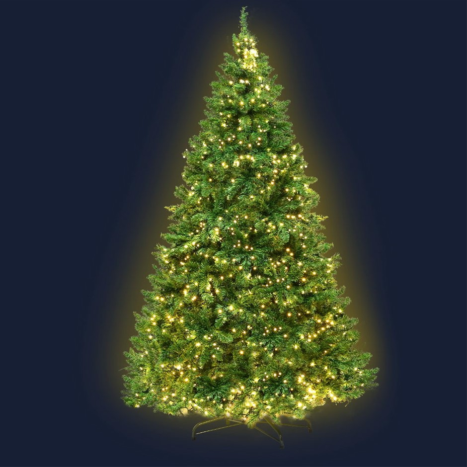 Jingle Jollys 2.1M 7FT Christmas Tree LED Lights 1134 Tips Warm White Green