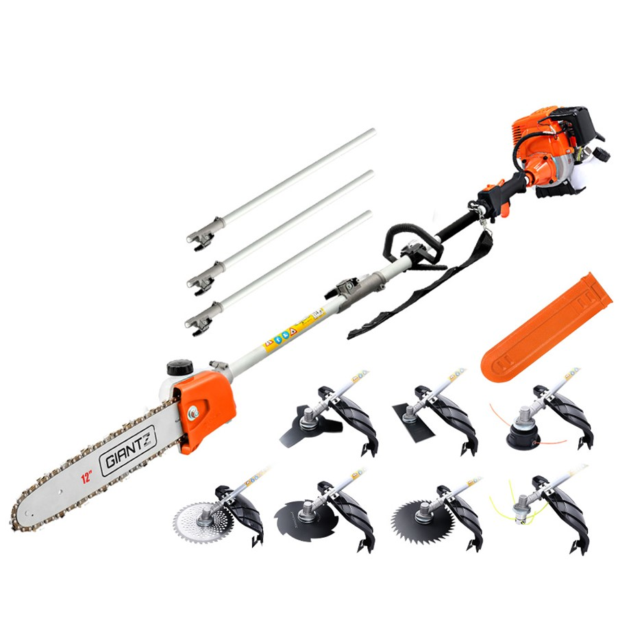 Giantz 4-STROKE Pole Chainsaw Hedge Trimmer Cutter Whipper Multi Tool Saw