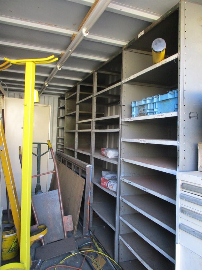 Assorted Storage Racks comprising: