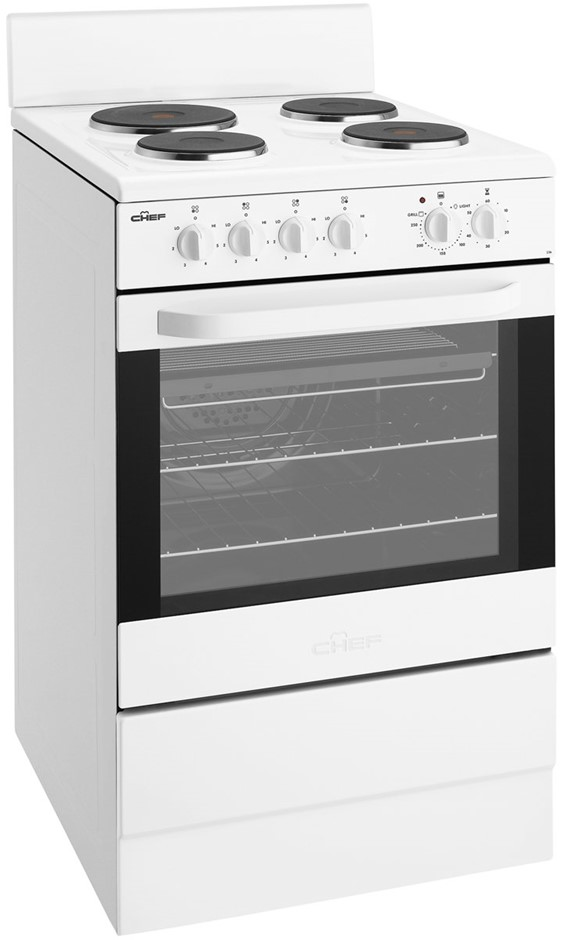 Chef CFE536WA 54cm Freestanding Electric Oven/Stove