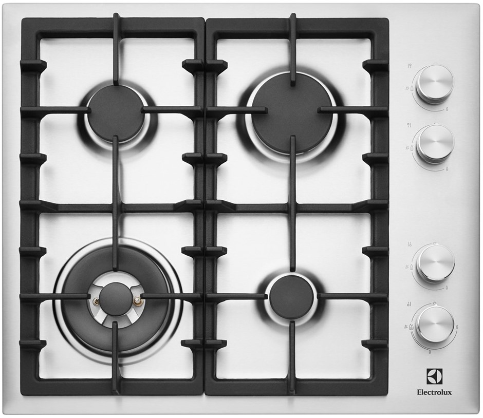 Electrolux 60cm Stainless Steel Gas Cooktop (EHG643SA)
