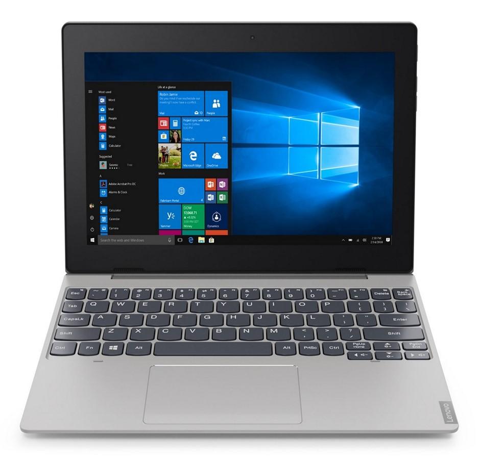Lenovo IdeaPad D330-10IGM 10.1-inch Laptop, Silver