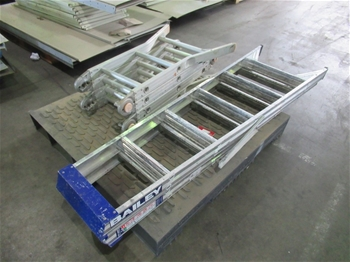 Qty 2 x Aluminium Ladders