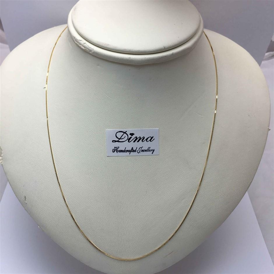 18 Karat Italian Yellow Gold Chain Necklace