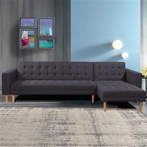 Corner Sofa Lounge with Chaise - Dark Gr