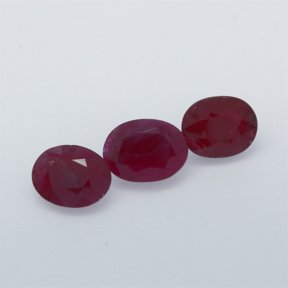 Three Loose Ruby 11.15ct in Total