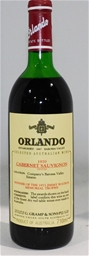Orlando Cabernet Sauvignon 1970 (1x 750ml), . Cork closure.