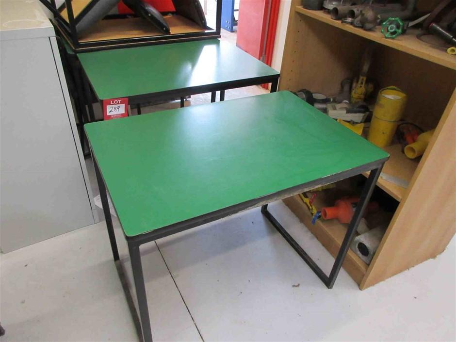 4 x Student Desks on Steel Frame