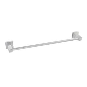 Square Chrome Single Towel Rail 800mm St