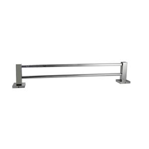 Square Chrome Double Towel Rail 800mm St