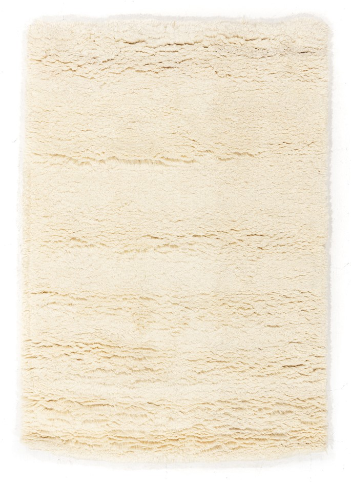 Pit Loomed Hand Knotted Shaggy Floor Rug Size (cm): 120 x 175