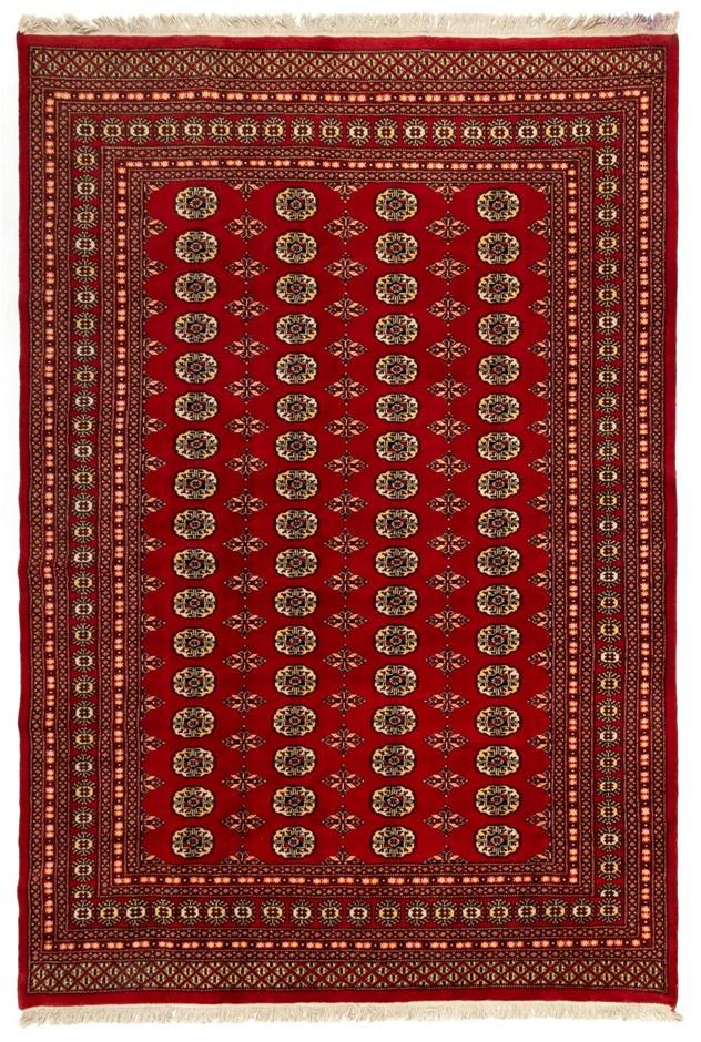 Pakistan Bokharra Super Soft Hand Knotted Nz Wool Rug Size (cm): 200 x 297