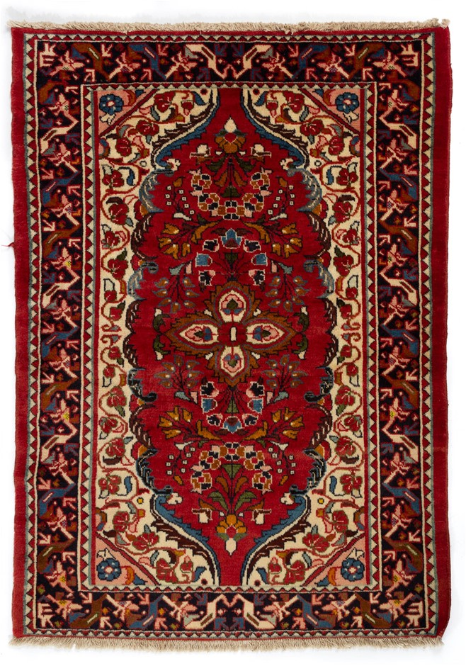 Persian Hamadan Hand Knotted Wool Pile Rug Size (cm): 110 x 155
