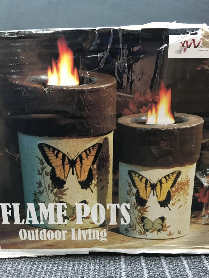 1 x Pair of Flame Pots