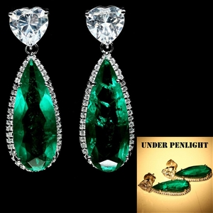 Stunning Pear Shaped Forest Green Double