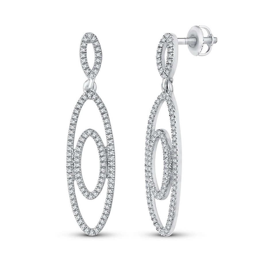 9ct White Gold, 0.31ct Diamond Earring