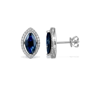 9ct White Gold, 2.65ct Blue Sapphire and