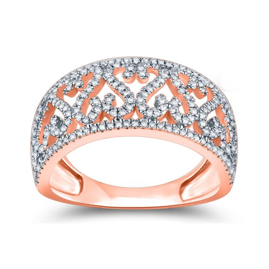 9ct Rose Gold, 0.34ct Diamond Ring