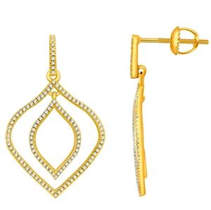 9ct Yellow Gold, 0.37ct Diamond Earring