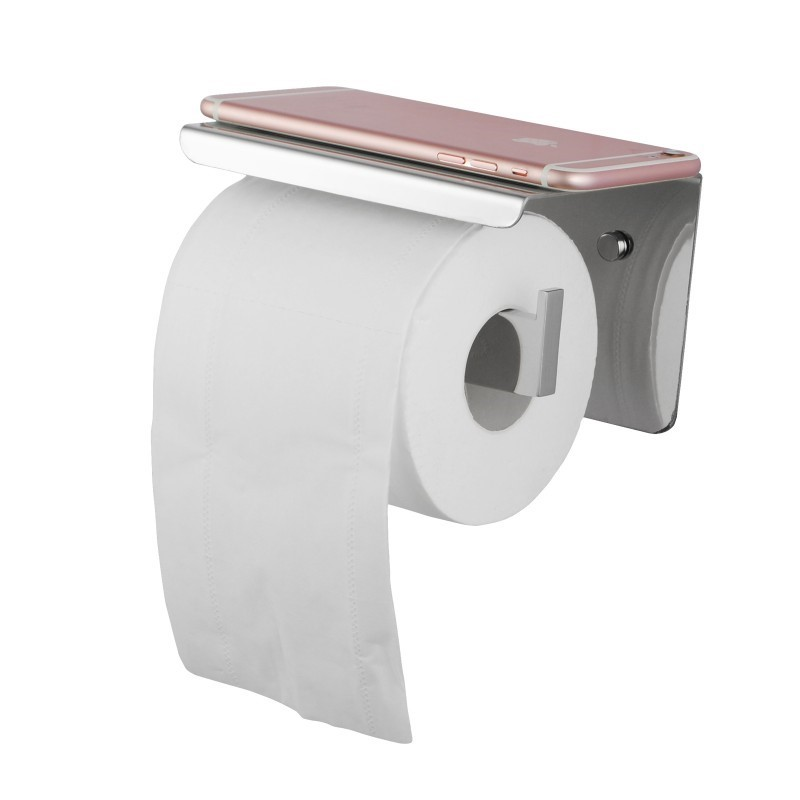 Chrome Toilet Paper Holder Stainless Steel Wall Mounted