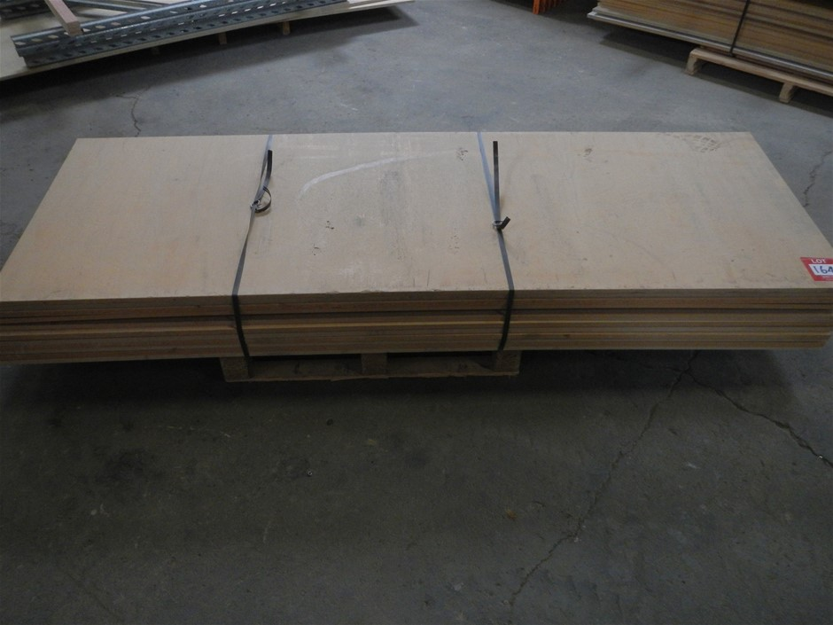 Approximately 11 pallet racking boards.