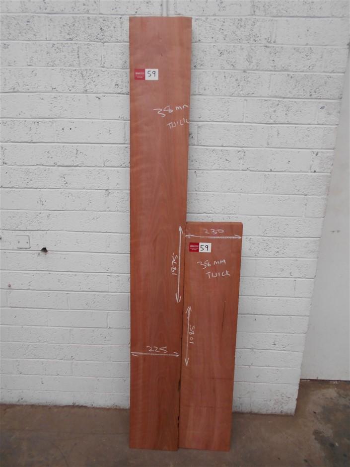 Assorted timber / furniture board pack (2 boards) - Tasmanian Myrtle