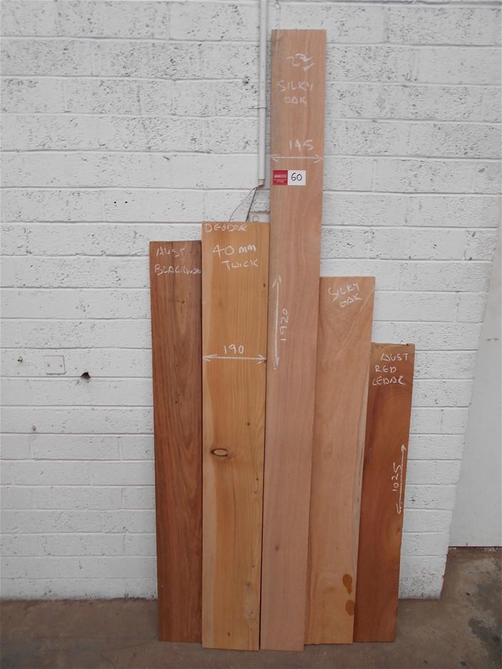 Assorted timber / furniture board pack (5 boards) - Australian Blackwood