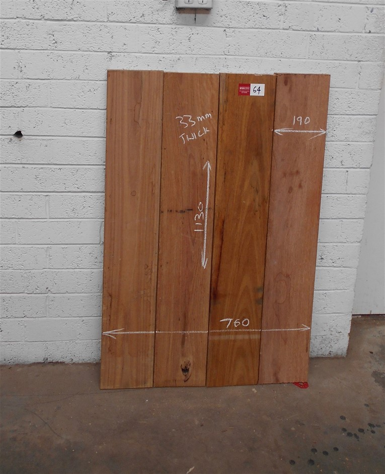 Assorted timber / furniture board pack (4 boards) - Australian Hardwood.