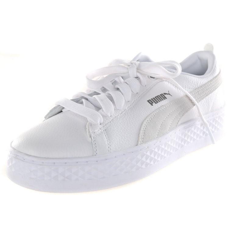 PUMA Women`s Smash Platform Casual Sneakers, UK Size 7.5, Grey/White. Buyer